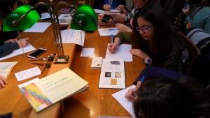 εργασία των μαθητων στην Εθνικη Βιβλιοθηκη